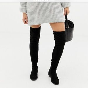 ASOS thigh high suede boots